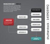 organization chart template... | Shutterstock .eps vector #145905992