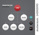 organization chart template... | Shutterstock .eps vector #145905995