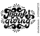 thanksgiving hand drawn... | Shutterstock .eps vector #1459068725