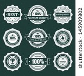 vintage labels set. vector... | Shutterstock .eps vector #145909802