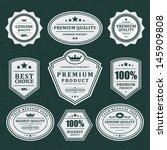 vintage labels set. vector... | Shutterstock .eps vector #145909808