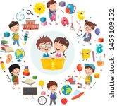 vector illustration of children ... | Shutterstock .eps vector #1459109252