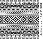 seamless etnic pattern in black ... | Shutterstock .eps vector #1459113848