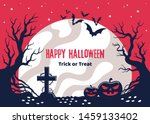scary poster on halloween... | Shutterstock .eps vector #1459133402
