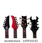 fretboard and picks of ... | Shutterstock . vector #145914152