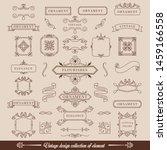 brown modern vintage elements... | Shutterstock .eps vector #1459166558