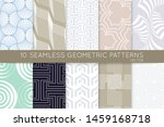 collection of seamless patterns.... | Shutterstock .eps vector #1459168718