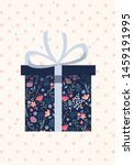 giftbox with flower pattern and ... | Shutterstock .eps vector #1459191995