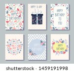 birthday set design template... | Shutterstock .eps vector #1459191998