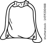 Drawstring Bag Icon In Outline...
