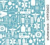 medical seamless background. | Shutterstock .eps vector #145920602