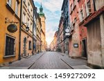 City Street Of Old Town In...