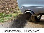 smoking exhaust pipe  | Shutterstock . vector #145927625