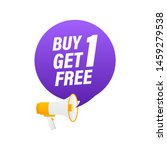 buy 1 get 1 free  sale tag ... | Shutterstock .eps vector #1459279538