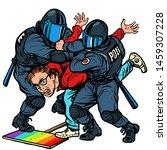 police arrest activist protest... | Shutterstock .eps vector #1459307228