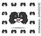 pekingese emoji stuck out...