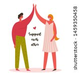 support each other. man and...   Shutterstock .eps vector #1459350458