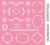 mega set collections of vintage ... | Shutterstock .eps vector #1459377422