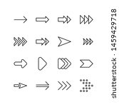 set of arrow line icon design ...