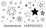 set of hand drawn stars. doodle ... | Shutterstock .eps vector #1459431422