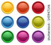 colorful glossy round buttons | Shutterstock .eps vector #145947146