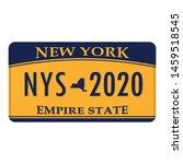 license plate new york. vector... | Shutterstock .eps vector #1459518545
