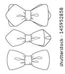 bow tie set | Shutterstock .eps vector #145952858