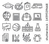 school and education line icons ... | Shutterstock . vector #1459539668