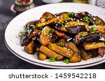 hot spicy stew eggplant in... | Shutterstock . vector #1459542218