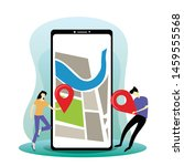 navigation app with map  mobile ...
