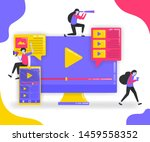 illustration of play button and ...