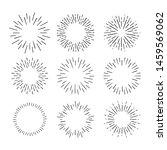 vintage sunburst explosion hand ... | Shutterstock .eps vector #1459569062