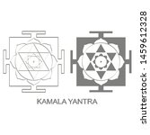 vector icon with kamala yantra...   Shutterstock .eps vector #1459612328