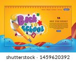 typography of back to school... | Shutterstock .eps vector #1459620392