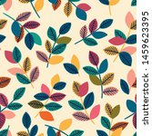 beautiful seamless pattern with ... | Shutterstock .eps vector #1459623395