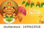happy onam kathakali...   Shutterstock .eps vector #1459623518