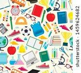 seamless pattern. school. back...   Shutterstock .eps vector #1459624682