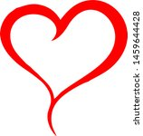 red heart icon vector... | Shutterstock .eps vector #1459644428