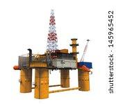 drilling offshore platform oil... | Shutterstock . vector #145965452