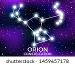 Orion Constellation. Starry...