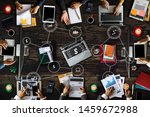 top view of businessman group... | Shutterstock . vector #1459672988
