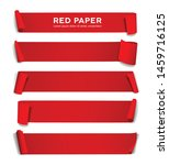 red paper roll long size vector ... | Shutterstock .eps vector #1459716125