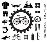 bicycle icons set illustration... | Shutterstock .eps vector #145974332