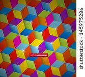 abstract colorful vector square ... | Shutterstock .eps vector #145975286