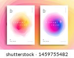 minimal poster layout with... | Shutterstock .eps vector #1459755482