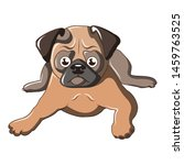 sitting pug dog icon. cartoon... | Shutterstock . vector #1459763525
