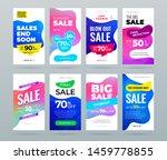 set of sale banner for social...   Shutterstock .eps vector #1459778855