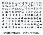 set of 100 black arrow icons