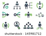 strategy icons set | Shutterstock .eps vector #145981712