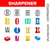 plastic pencil sharpener vector ...   Shutterstock .eps vector #1459834922